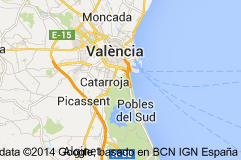 Meivakantie aanrader.  Landkaart Valencia Spanje
