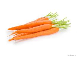 oranje wortelen en abrikozen eten om mooi bruin te worden